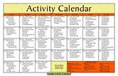 Image result for sample calendar for senior activities ...