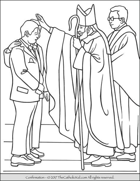 sacrament  confirmation coloring page thecatholickidcom