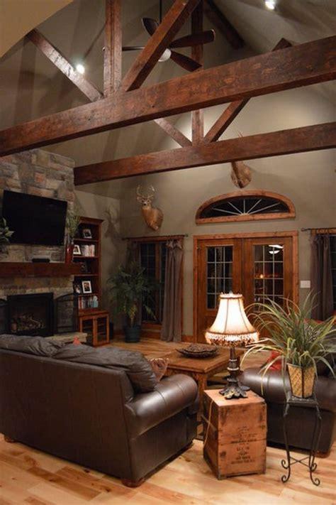 living room  exposed wood beams    year