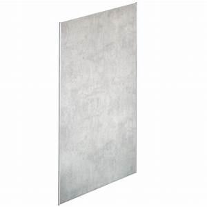 Panneau Mural Composite Salle De Bain : panneau mural panolux hauteur 2 55m texture b ton gris ~ Melissatoandfro.com Idées de Décoration