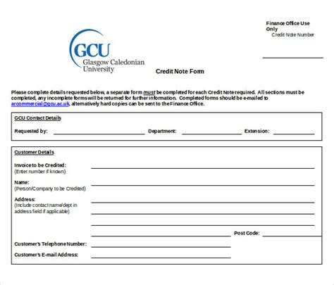 Customer Complaint Book Template Uk by 19 Credit Note Templates Word Excel Pdf Free