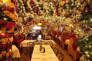 German Restaurant NYC Christmas Decorations