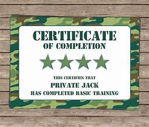army party printables invitations decorations camo With army certificate of completion template