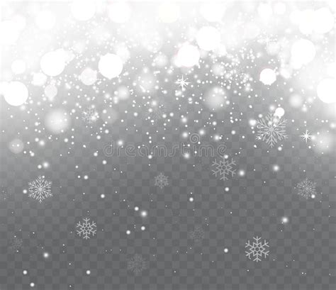 christmas lights snowflakes falling falling snow with snowflakes on transparent background stock vector image 79206462
