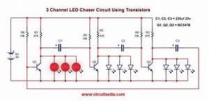 Led Chaser  Led Flasher Circuit Blinking Led Circuit