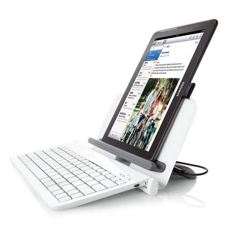 table l with usb port bluetooth tablet station with wireless keyboard and usb