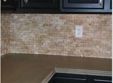 Travertine Split Face Backsplash Knapp Tile and Flooring