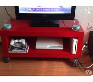 meuble tv rouge offres mai clasf With meuble tv rouge laque