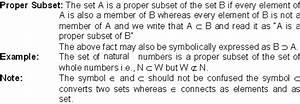 Subset - Math Formulas - Mathematics Formulas