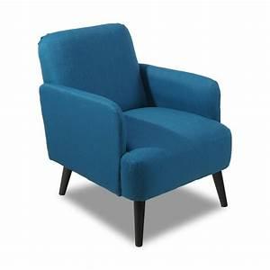 Fauteuil Bois Et Tissu : fauteuil r tro design brooks bleu by drawer ~ Melissatoandfro.com Idées de Décoration