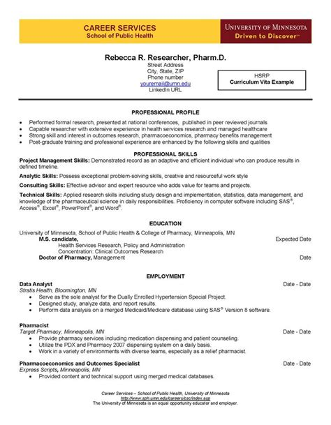 Graduate Resume And Curriculum Vitae Guide by 8 Best Images About Curriculum Vita Guide On