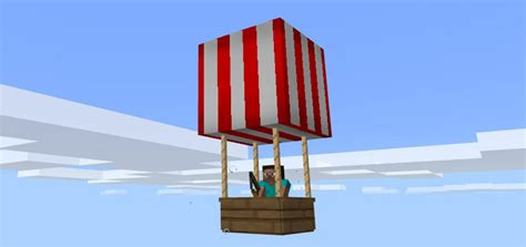 hot air balloon addon minecraft pe mods addons