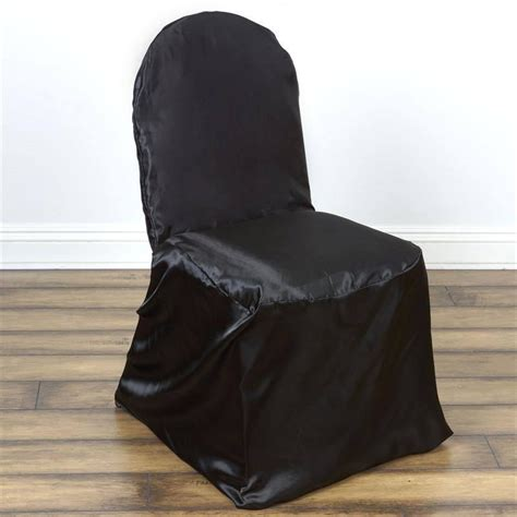black satin banquet chair covers efavormart