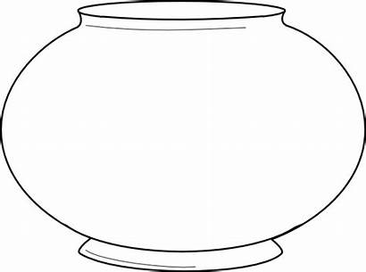 Fishbowl Fish Bowl Outline Printable Template Clipart