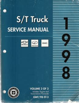 book repair manual 1998 gmc jimmy parental controls 1998 chevrolet s10 sonoma blazer gmc s15 sonoma jimmy envoy oldsmobile bravada s t