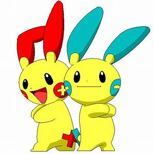 Plusle and Minun by iridion on DeviantArt