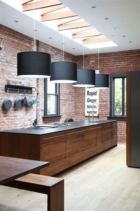 paredes de ladrillo visto disenos de cocinas pinterest