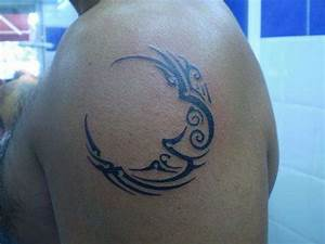 11 Beautiful Tribal Moon Tattoos | Only Tribal