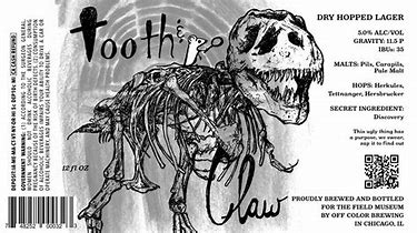 Image result for tooth 7 claw dry hopped lager