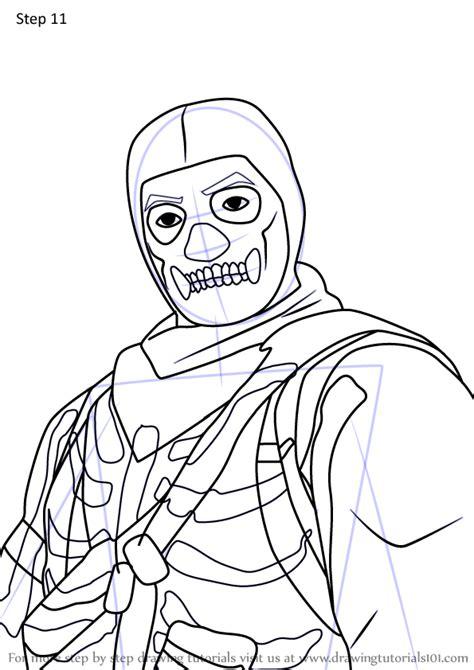 learn   draw skull trooper jonesy  fortnite fortnite step  step drawing tutorials