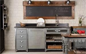 cuisine au style industriel les 8 details qui changent tout With meuble de cuisine industriel