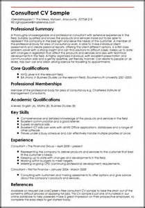 professional consultant cv exles consultant cv sle myperfectcv