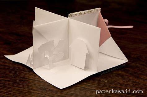 origami popup book video tutorial crafts miniature