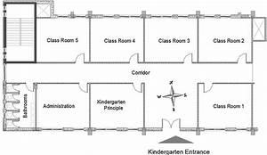 Plan View Of The Kindergarten