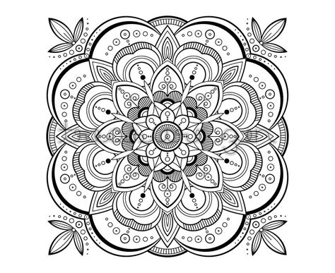 printable adult coloring book page  mandala coloring