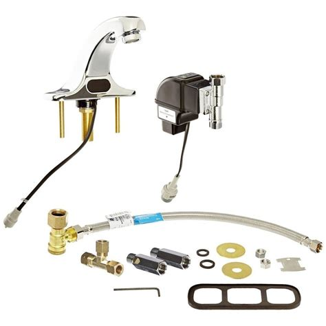 zurn battery powered single hole touchless bathroom faucet