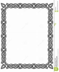 Cadre Noir Et Blanc : cadre noir avec l 39 ornement celtique illustration stock illustration du illustration fleuri ~ Teatrodelosmanantiales.com Idées de Décoration