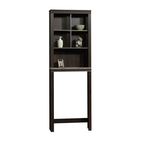 etagere bathroom sauder peppercorn etagere bath cabinet cinnamon cherry