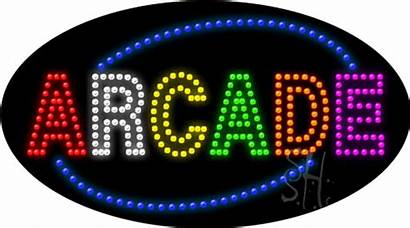 Arcade Sign Led Signs Games Neon Template