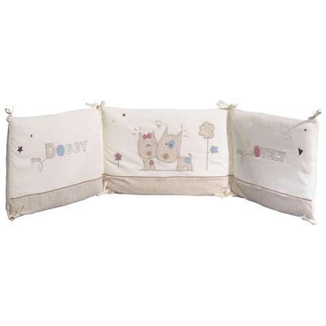tour de lit bebe sauthon sauthon tour de lit beige bleu et achat vente parure de lit b 233 b 233 3500760028353 cdiscount