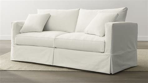 crate and barrel willow sofa slipcover slipcover only for willow sofa deso snow crate and barrel