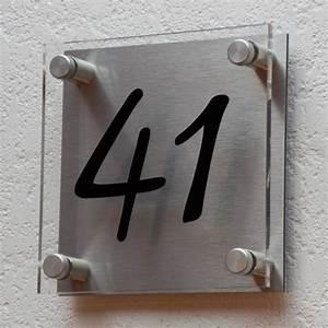 Plaque Numero Maison : plaques professionnelles et plaque de maison plexiglas et aluminium bross creativ 39 sign ~ Teatrodelosmanantiales.com Idées de Décoration