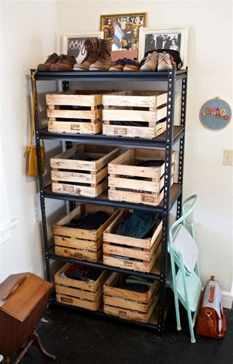 manage  monday wood crate dresser diy storage