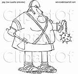 Cartoon Axe Executioner Holding Flail Chubby Djart sketch template