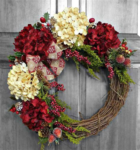 outdoor christmas wreath ideas holiday wreath christmas wreath hydrangea wreath christmas gift winter wreath front door