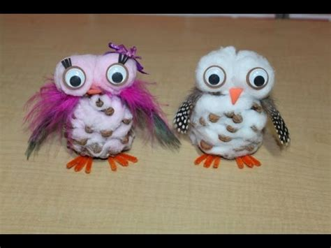 owl creations from pine cones and fluff snowy pinecone owl craft version tutorial homeschool friday