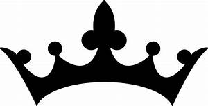 Crown clipart silhouette - Pencil and in color crown ...