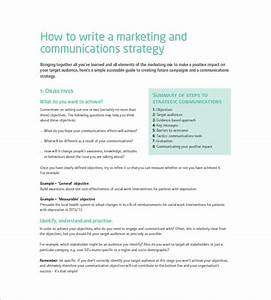 marketing communication plan template 10 free word With marketing communications plan template pdf