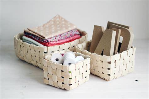 weave  basket  veneer diy  fun