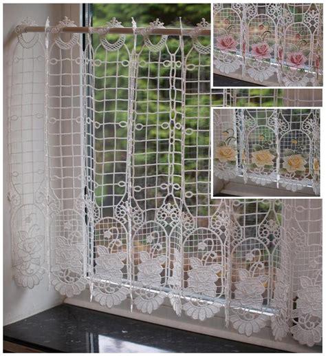 macrame rideau cuisine macrame dentelle prêts cafe cuisine rideau panneau 24 in environ 60 96 cm drop ebay