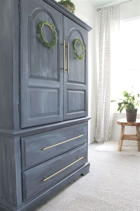 Painted Armoire Furniture Painted Furniture Armoire Makeover Home