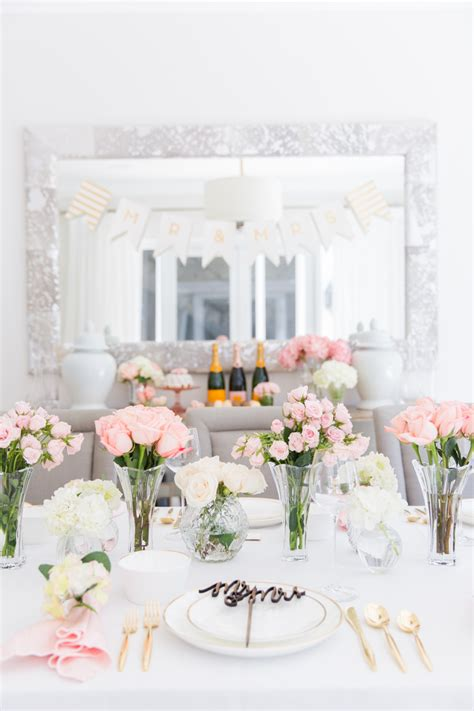 Wedding Showers by Pink Bridal Shower Tablescape Fashionable Hostess