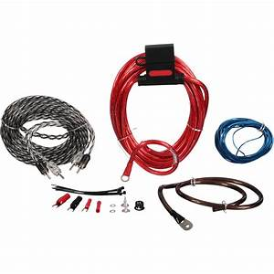 Scosche U00ae 680 Watt Max 400 Amp Wiring Kit 8 Pc Carded Pack
