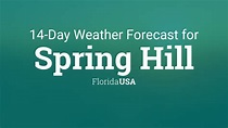 Spring Hill, Florida, USA 14 day weather forecast