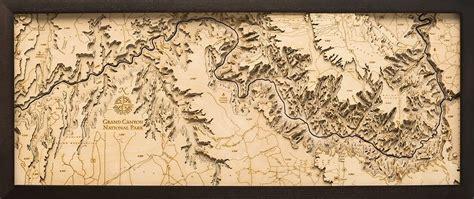 bathymetric map grand canyon arizona scrimshaw gallery