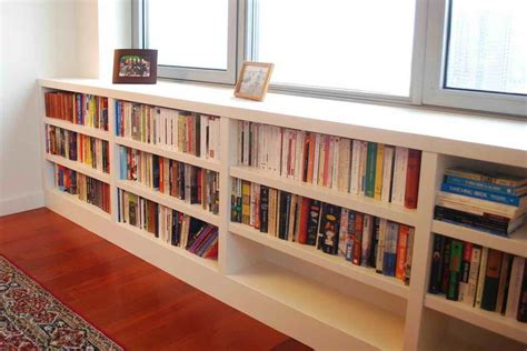 Cabinet & Shelving  Under The Window Bookcase Design